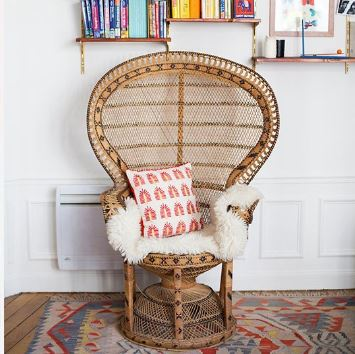 fauteuil emmanuelle osier mimbre silla