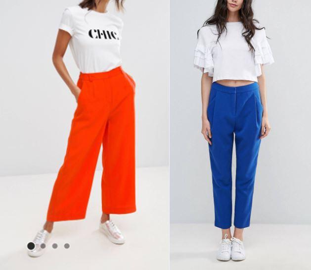asos pantalones azul real bleu roi orange naranja  colorpop.JPG