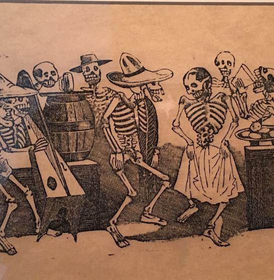 calavera malba squelette mexicain
