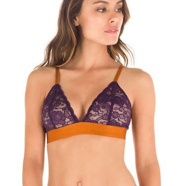 Soutien-gorge triangle en dentelle violet profond MOD de DIM audrey lombard.JPG