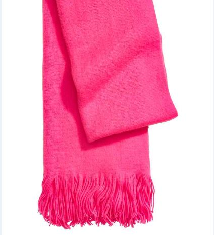 Écharpe - bufanda Rose fluo - FEMME _ H&M FR.jpg