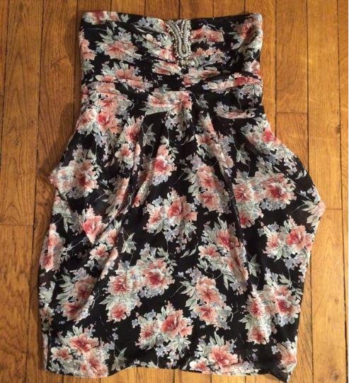 robe sandro imprimee et strass vinted vintie mariepap2.JPG
