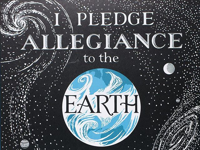 I pledge allegiance to the earth and all the life which it supports. One planet, in our care, irreplaceable with sustenance and respect for all! • • •  #recyclelivingston #gogreen #recycle #michigan #howellmi #livingstoncounty