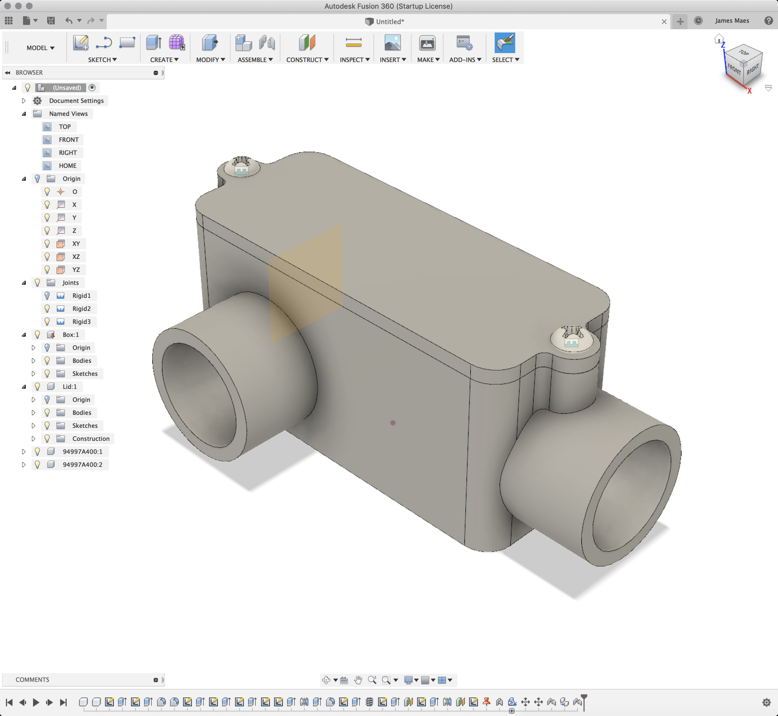 My First 2-Minute Part in Fusion 360
