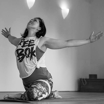 Aloki (Vanessa Ponsford) - teacher   Owner of Free Spirit Therapies, Aloki is a 200hr YA registered Yoga Teacher from Norwich. Trained in Hatha, Vinyasa and teaches Forrest yoga inspired classes with an emphasis on anatomy and breathwork. Through dealing with her own struggles both physically and emotionally, she truly understands how to help you connect to your spirit on a deeper level and to understand how your own body moves. She is also a Reflexologist, Reiki healer and Bodyworker having trained with Forrest Yoga Guardians Jambo Truong and Brian Campbell, and uses bodywork within her classes with some gentle assists if appropriate. Most classes will start with a ceremony to call in the four directions in meditation and Icaros songs as invocation to lead you into practice. Always offering options for all levels and holding space for each student, you are free and safe to lose yourself in your practice.
