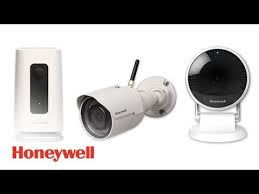 NextGen Honeywell Cameras. Left to right: Indoor tabletop camera, outdoor wall mount camera, indoor wall or ceiling mount camera. Self install (require wire run to power outlet) or hire us to install them for you (KC area only)