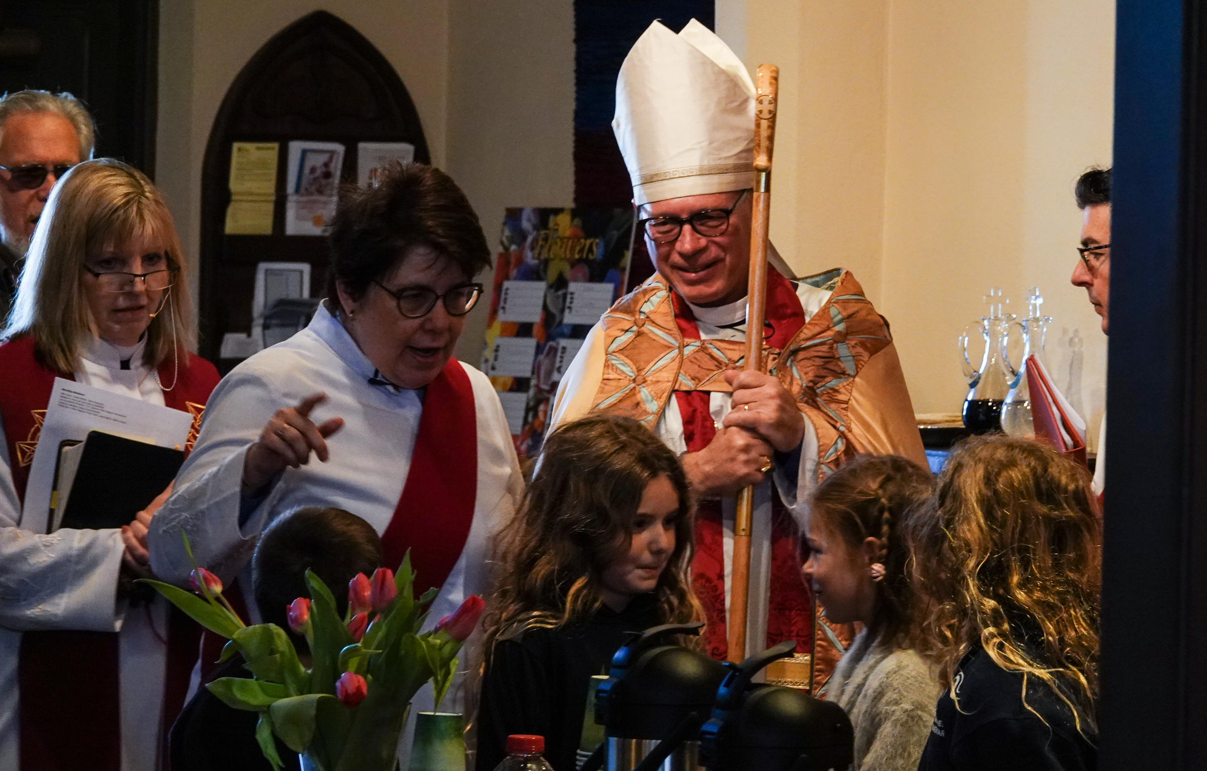 Bishop Marc on one of his visits to Epiphany.
