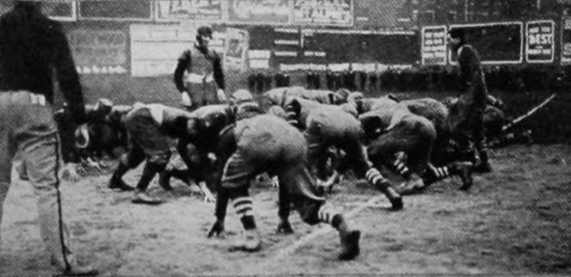 A 1906 UC game. (I believe this was the game against Carlisle on November 24, but I can't say for sure.) (UC Libraries)