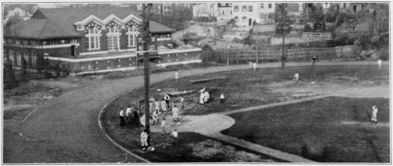 UC baseball playing at the south end of Nippert, 1927. (UC Libraries)