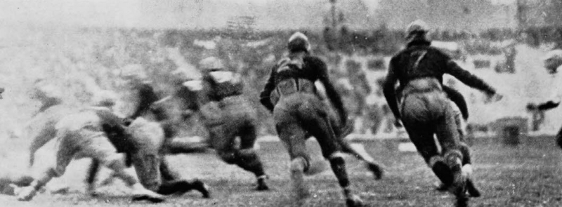 UC falls to Oberlin in the first game at completed Nippert Stadium, 11/8/24. (UC Libraries)
