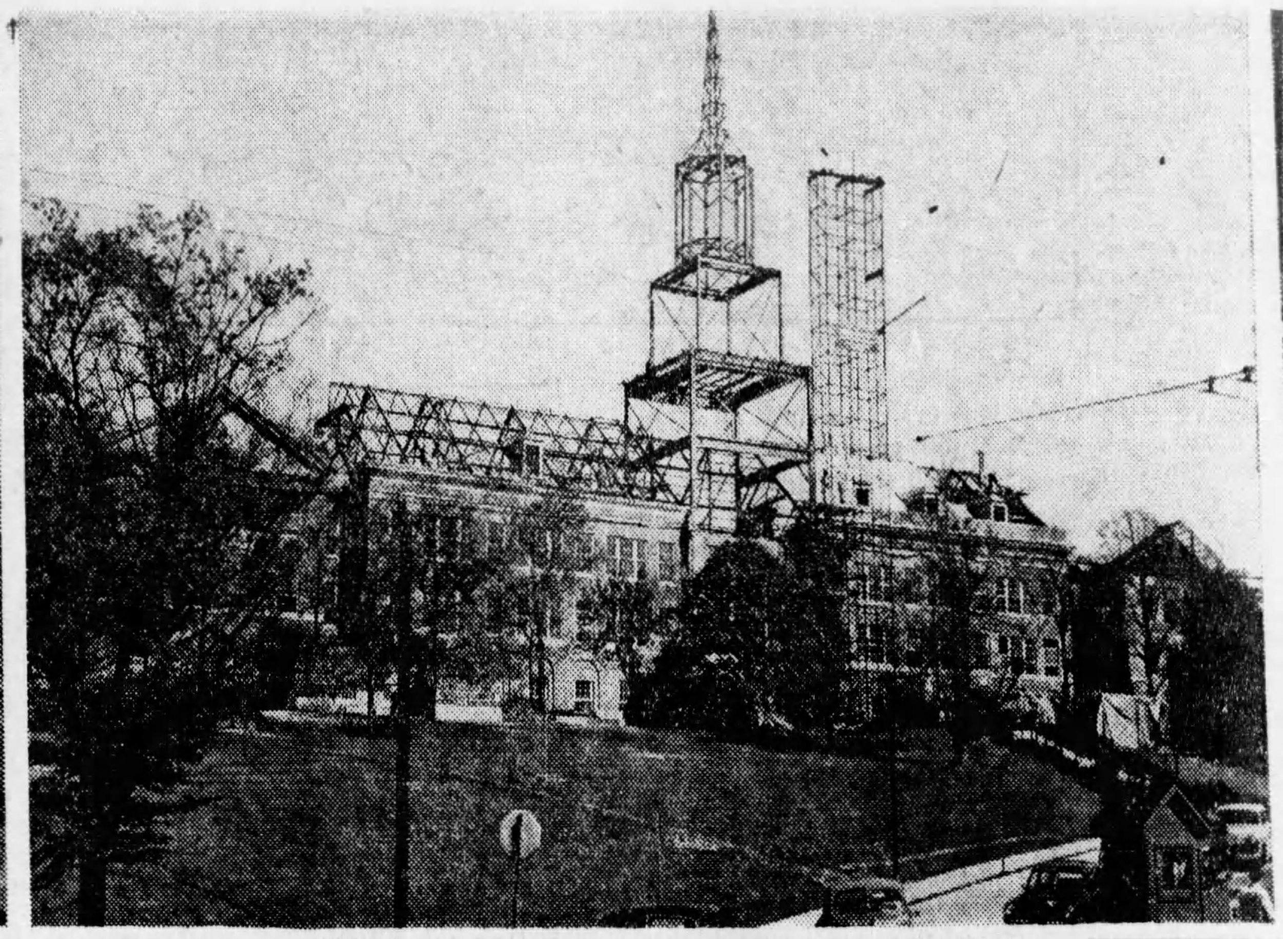 McMicken Hall under construction, May 1949 [via the Cincinnati Enquirer]