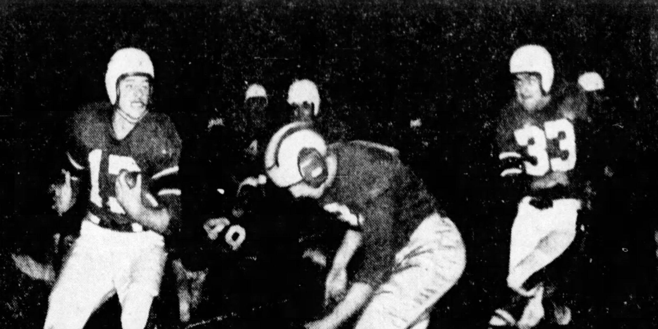 Bearcats vs Bobcats, 1946 (Enquirer)
