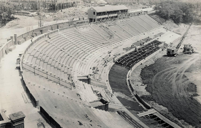 1936 Nippert Stadium construction. [OhioMemory.org]