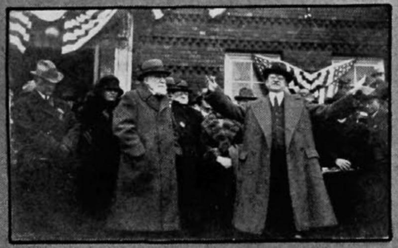 James N. Gamble (left) and UC President Frederick Hicks, Nippert dedication ceremony—November 8, 1924. [UC Libraries]