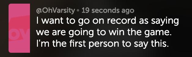 Chad Brendel's pregame Periscope Q&A.