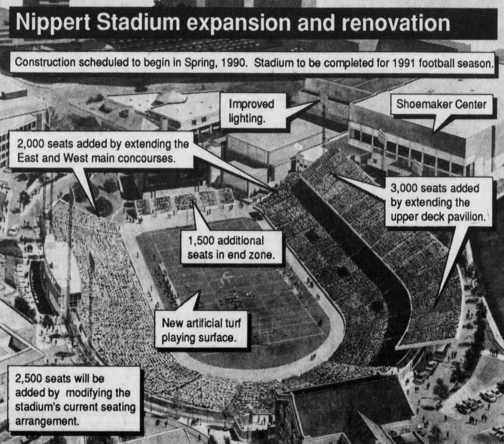 Rendering detailing 1990 renovation project. [Enquirer]