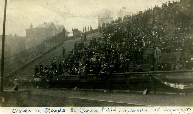 The east side of Carson Field, circa 1918. [UC Libraries]