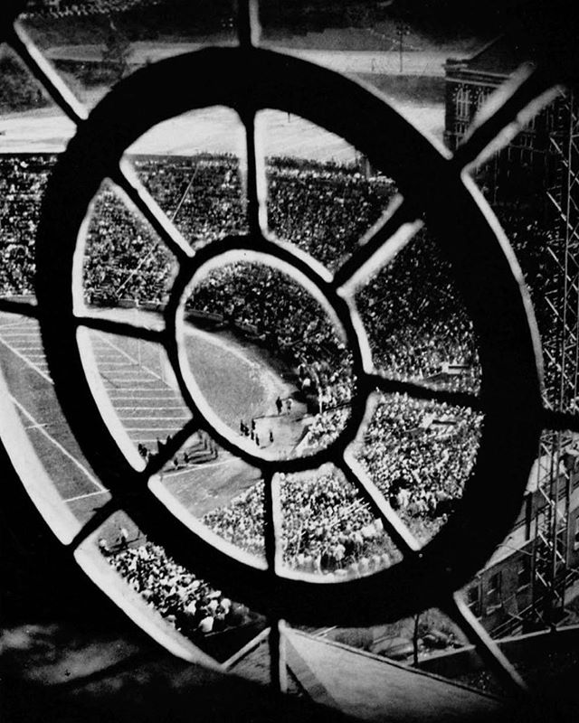Nippert Stadium from the windows of TUC, 1947.