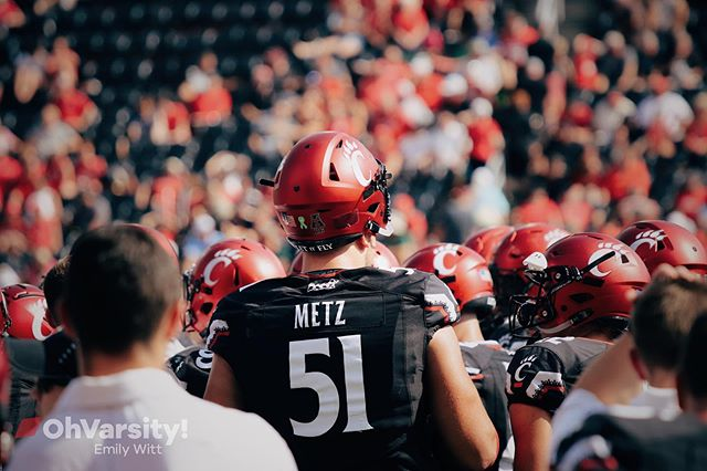 "51 days until the 6'9"" German is patrolling the line of scrimmage. Ich liebe Deutschland, baby. #Bearcats"