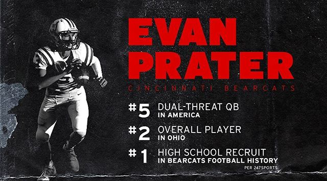 Cincinnati's hometown hero. The new 247Sports ratings are out, and 2020 #Bearcats commit Evan Prater is making history in Clifton.