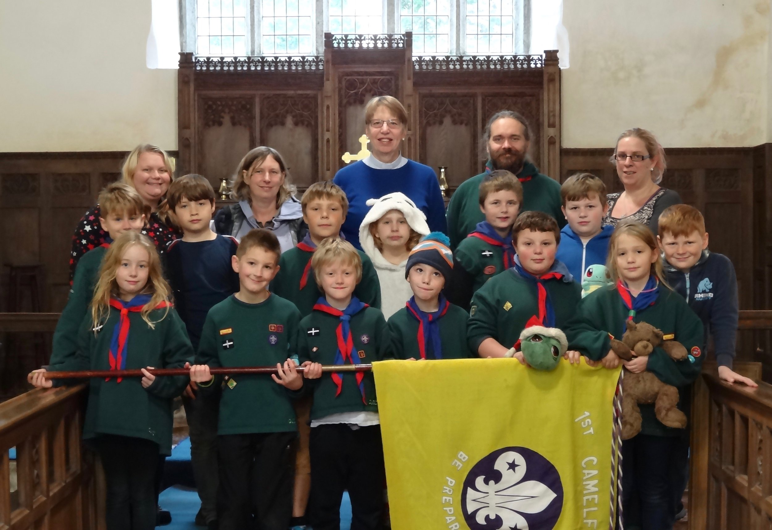 Camelford cub scouts before the sleepover.jpg