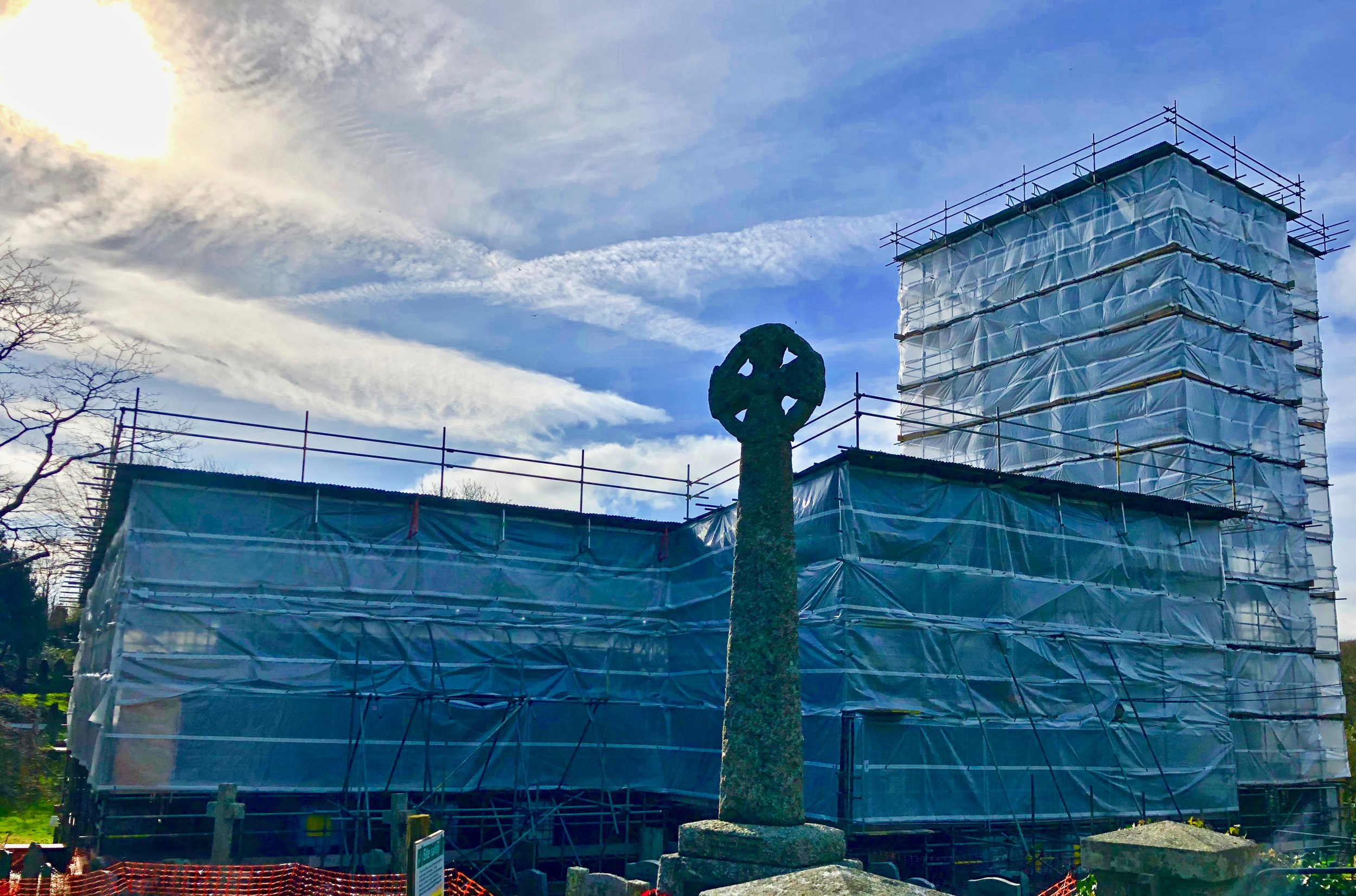 all safely covered up and ready for the restoration to start February 2019