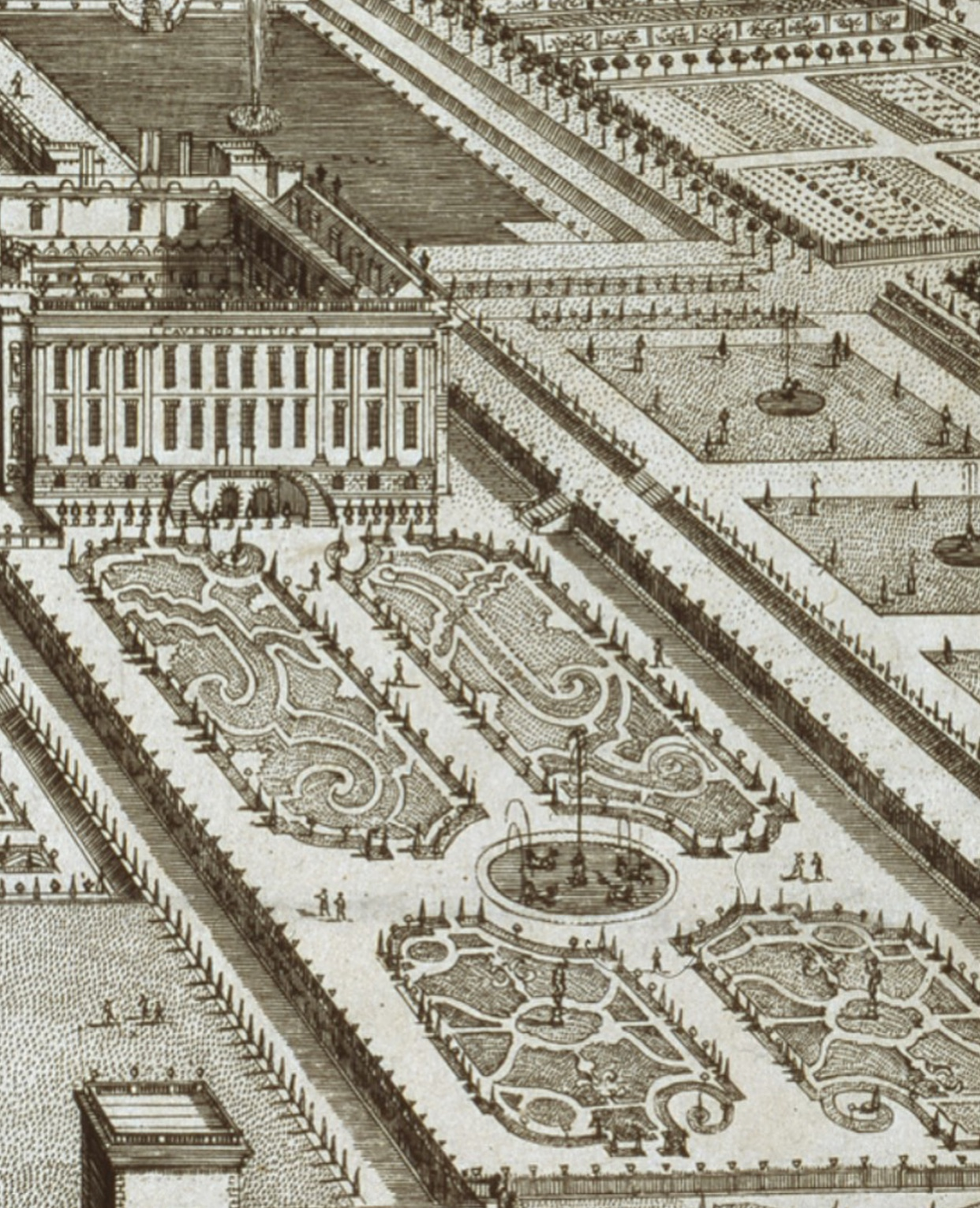 A 1699 illustration of the parterre garden at Chatsworth - (Photo: © Chatsworth House)