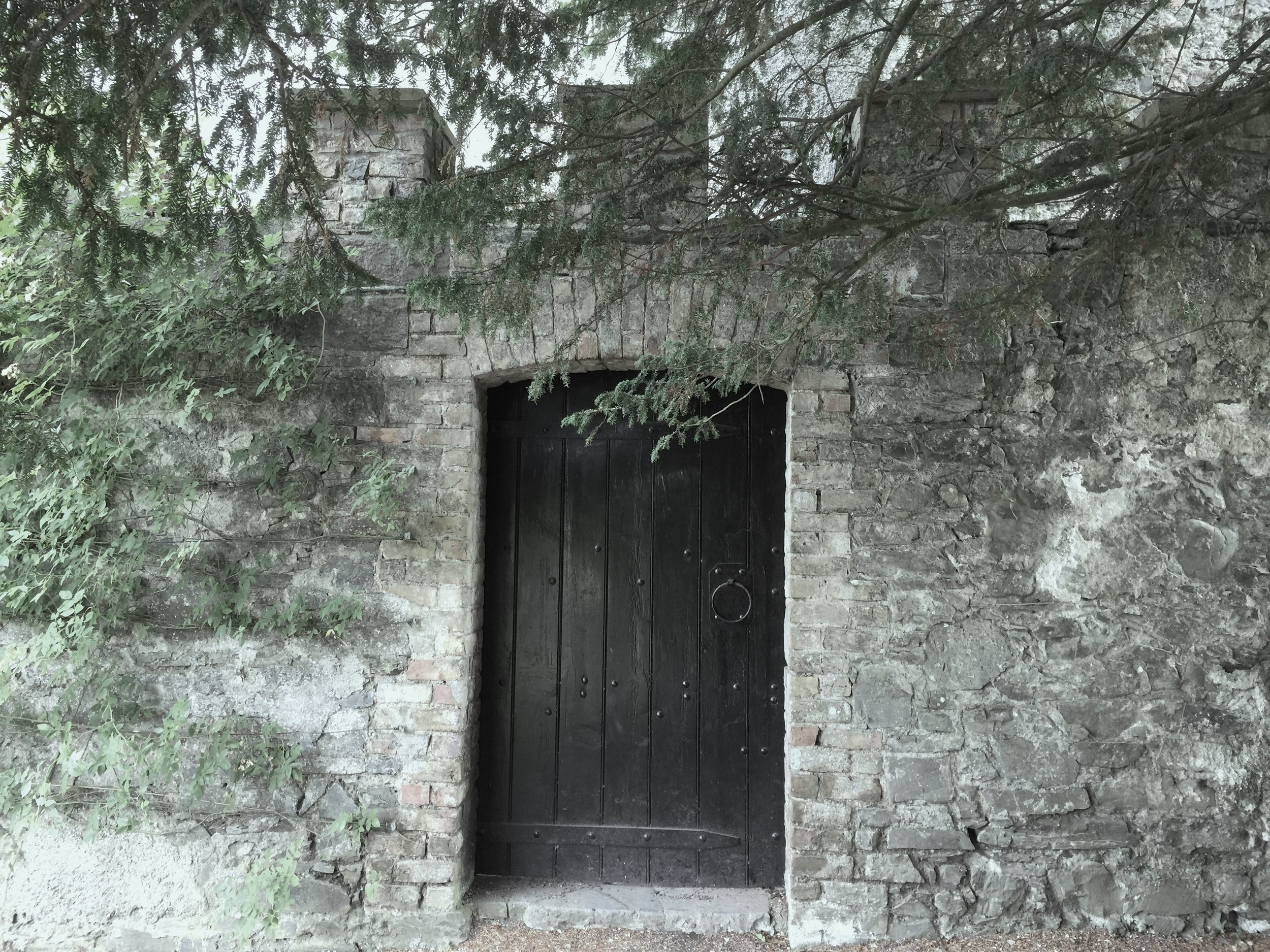 A locked door at Ardgillan Castle in North County Dublin.