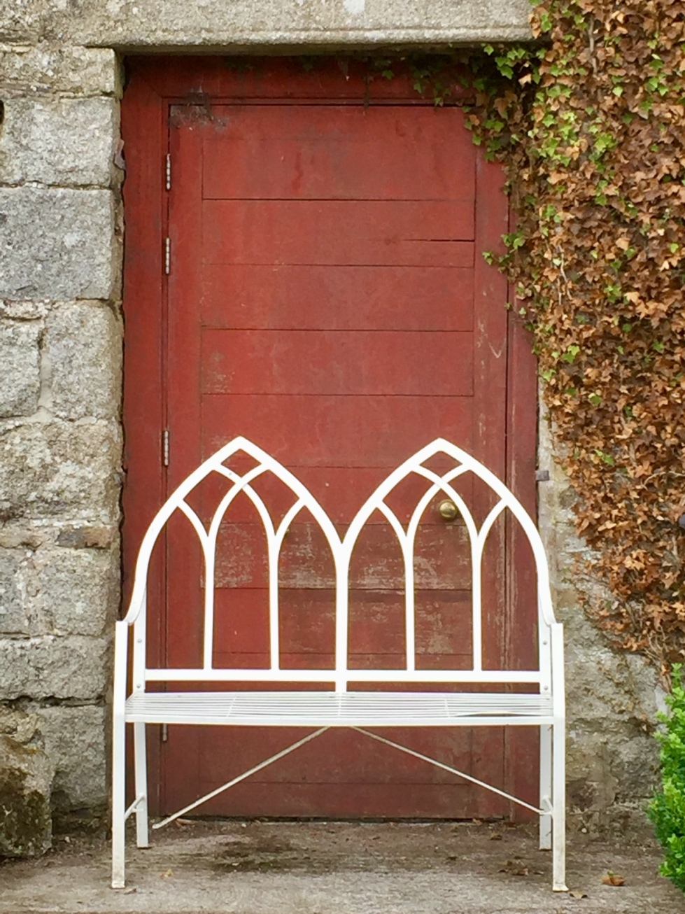 This old red door inspired the one in 'The Neglected Garden'. The photo was taken at Duckett's Grove in Co. Carlow in Ireland where two interconnecting walled gardens have been restored and are open to the public.