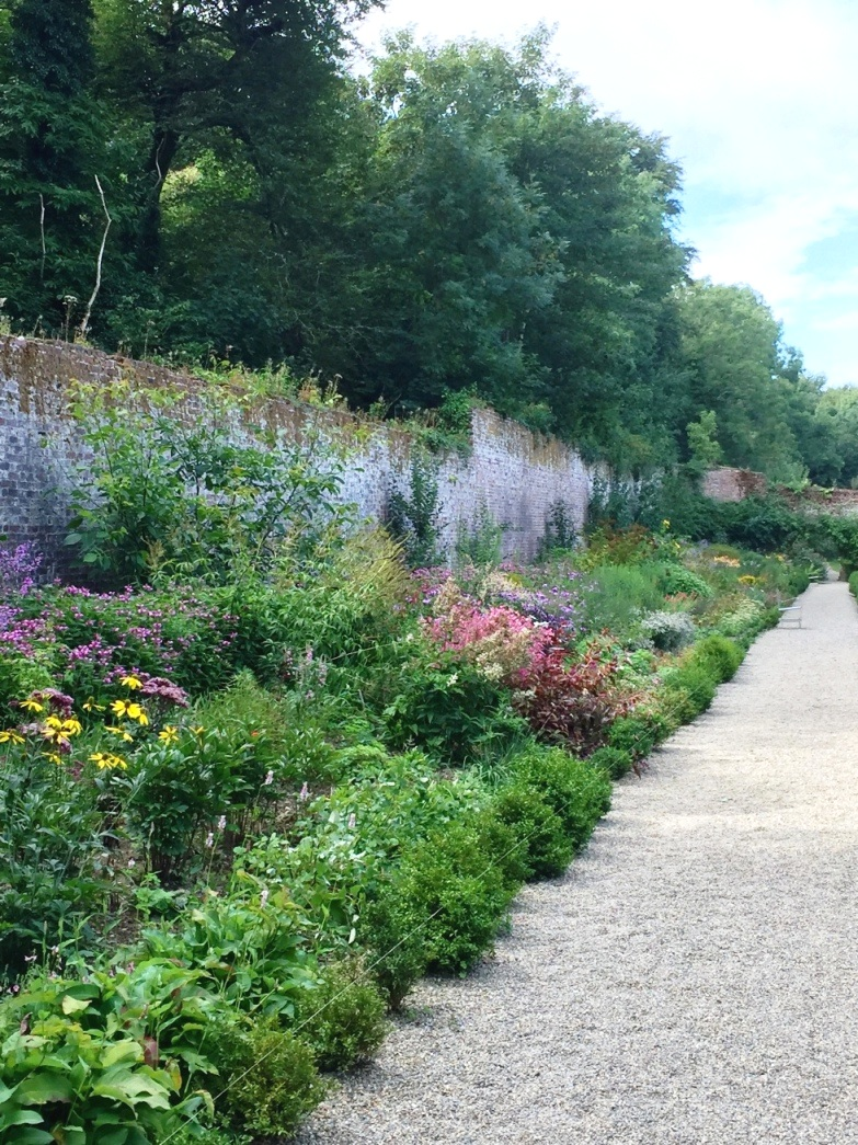 One of the herbaceous borders at the Colclough walled garden in Co Wexford. I took this photograph in August 2018. I like to imagine that when Gilly Townsend has finished planting up the garden at Glanesfort in the novel, it is might look something like this.