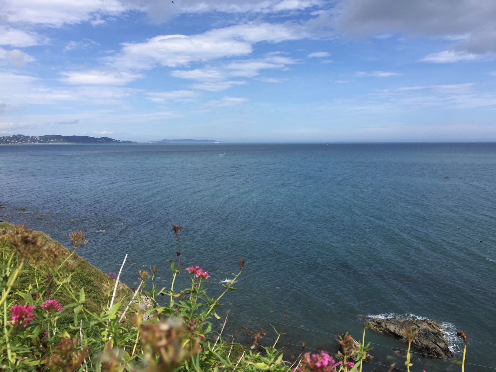 Bray cliff walk - View of Dalkey island and Howth Head.jpg
