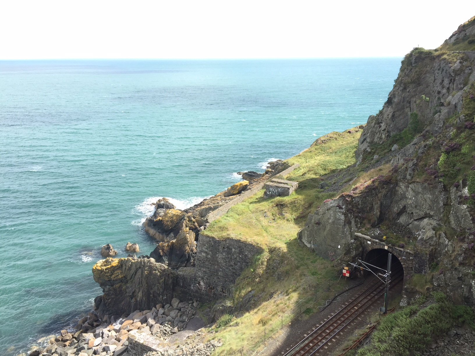 The railway was finished in 1856 and full marks go to the adventurous Victorian engineers for their tunnels through the rocky cliff face.
