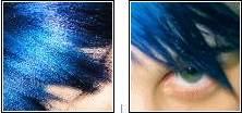 - Special Effects : Eletric BlueJeans Color : Ocean BlueAnilina : Celeste + Azul Pavão **