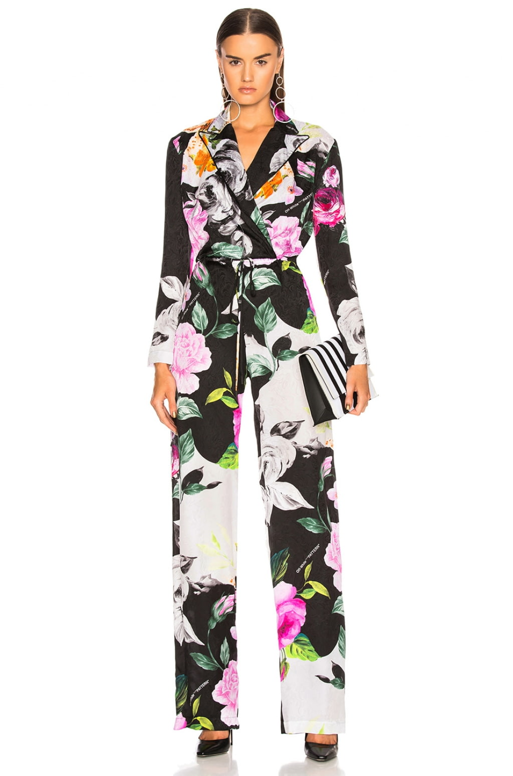 OFF-WHITE Floral Coulisse Jumpsuit - $2,355