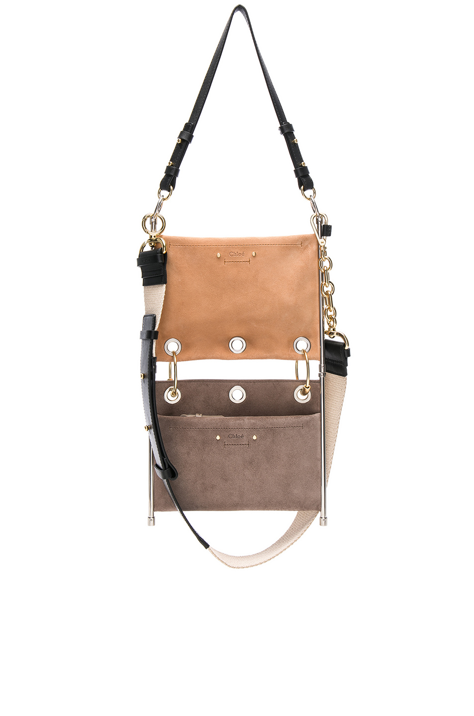 CHLOE Small Roy Calfskin & Suede Double Clutch - $1,750