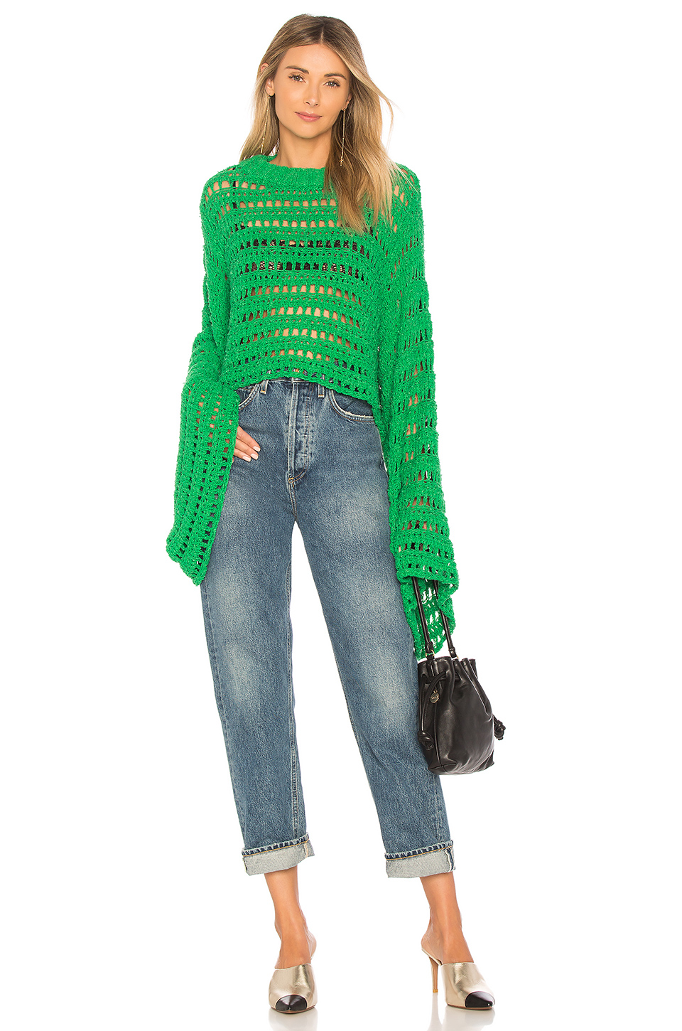 free people - caught up crochet top