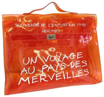 HERMES KELLY ORANGE VINYL satchel - $845.75