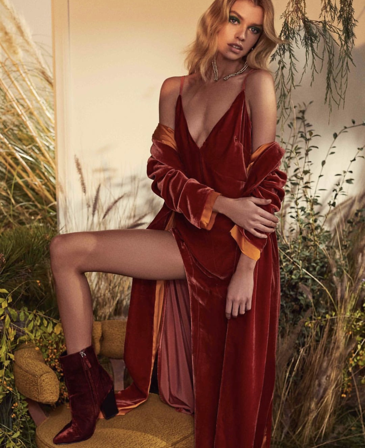 NADINE VELVET MAXI DRESS - $302