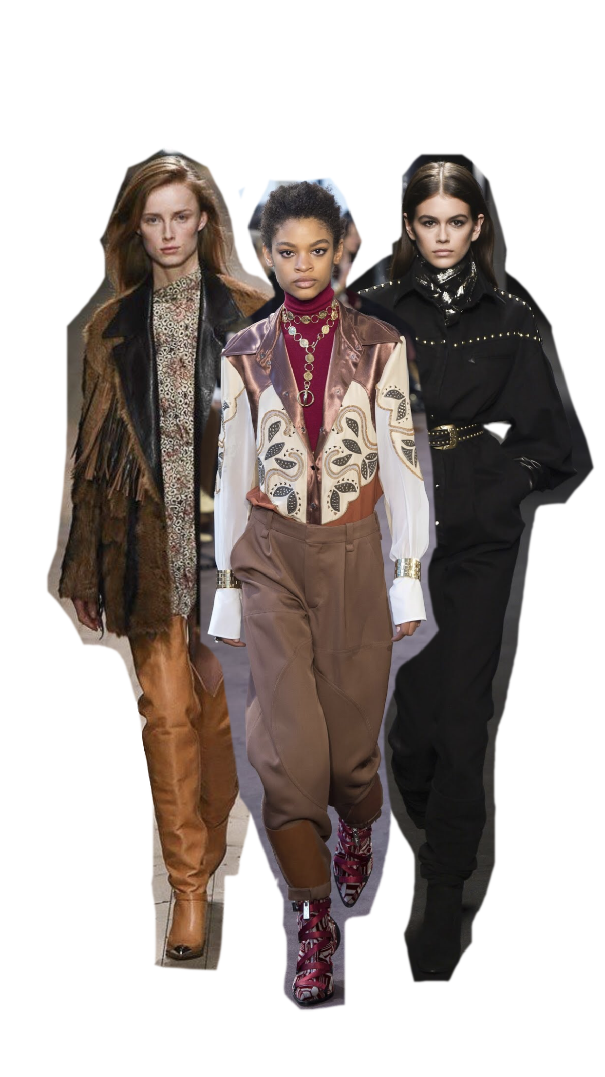 Photos (Left to Right): Isabel Marant, Chloé, Alberta Ferretti