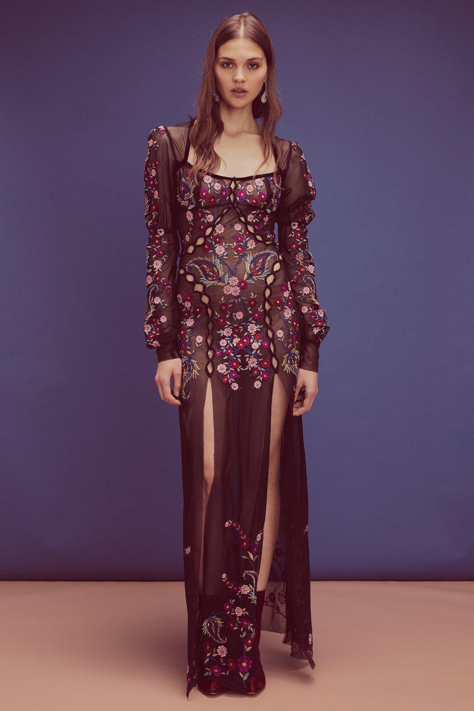 for love & lemons - ester embroidery maxi dress