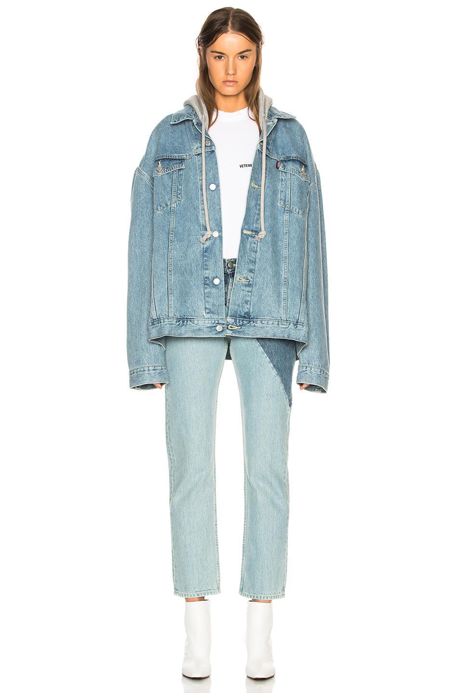 vetements - x levis oversized denim jacket