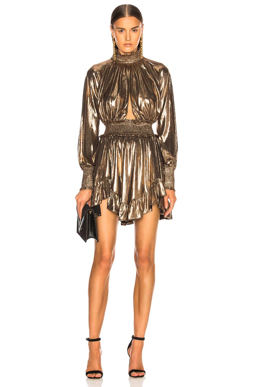 retrofete - farrah dress in bronze
