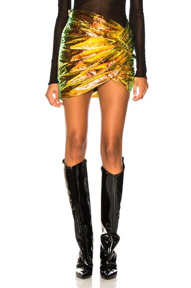 alexandre vauthier - Metallic Hologram Leather Mini Skirt