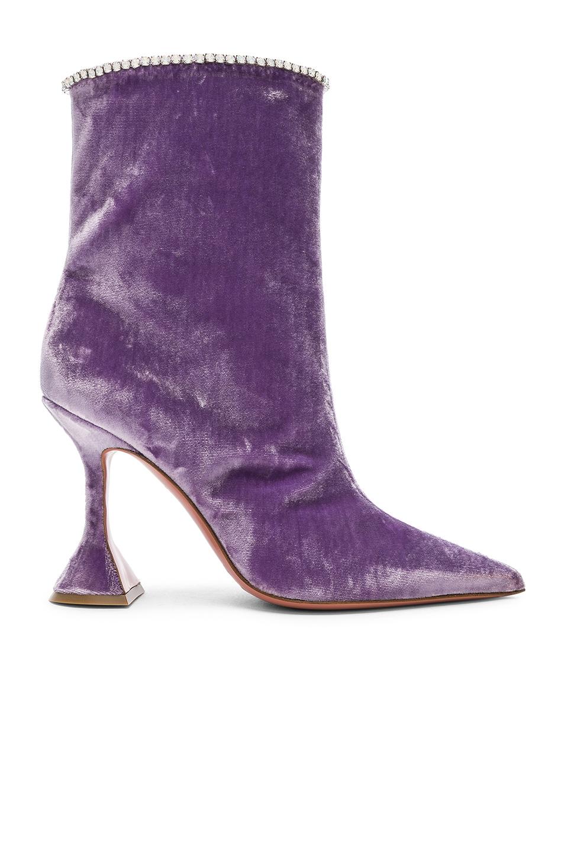 amina muaddi - velvet mia boots