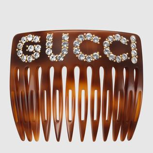 Gucci - Crystal Gucci hair comb