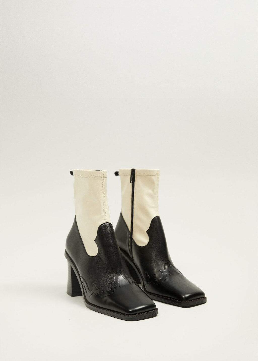 Mango Leather Cowboy Ankle Boots: $129