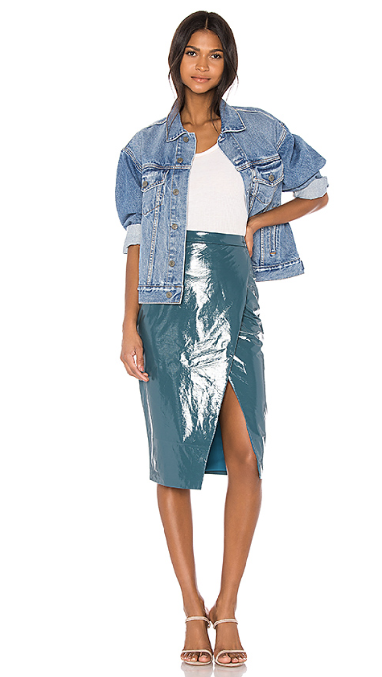 Lovers + Friends Michelle Faux Leather Skirt: $168