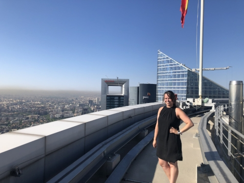On the rooftop of Torre Espacio