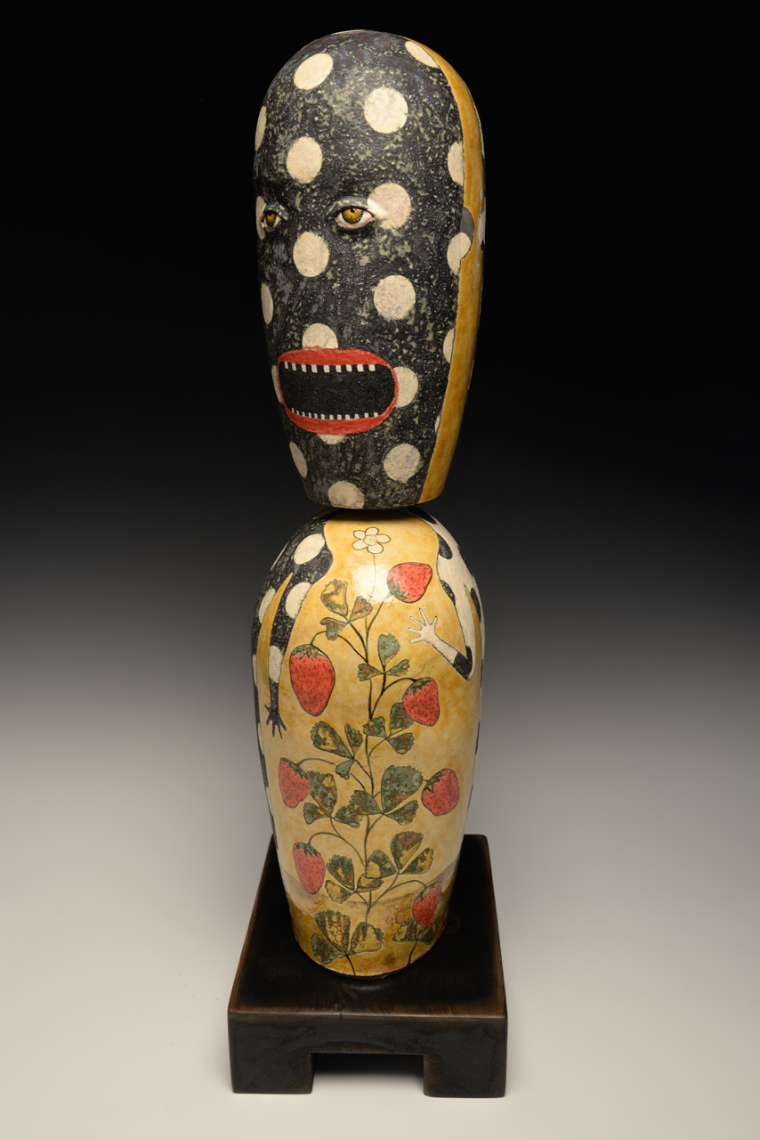 "Strawberry  Hand built ceramic 27"" x 8"" x 6"""