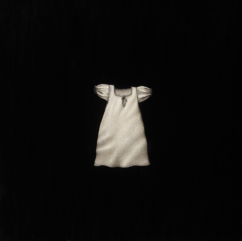 "Little Dress   Encaustic on Panel  16"" x 16"""